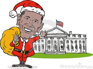 Obama Santa cartoon