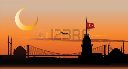 8925358-vector-silhouette-of-istanbul-cityscape-against-sunset-sky