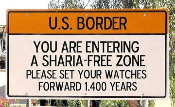 anti=sharia sign