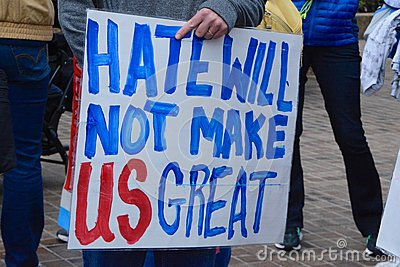 Hate willnotmakeusgreat
