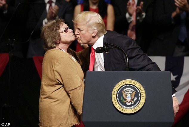 trump kissesCuban woman