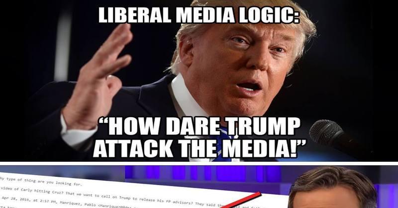 tRUMP ATTACKS THE MEDIA