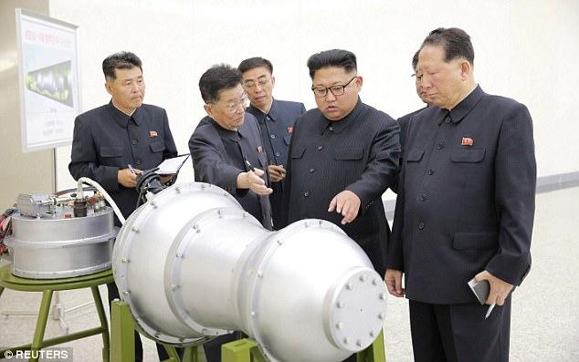 Kim with new hydrogen bomb