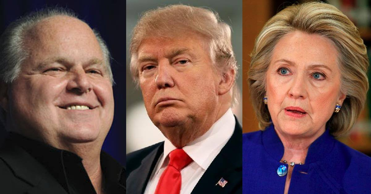 Rush-Limbaugh-vs-Donald-Trump-vs-Hillary-Clinton