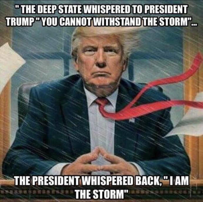 trump is the storm