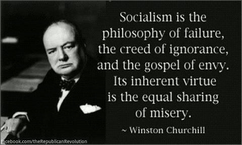 C hurchil on socialaism