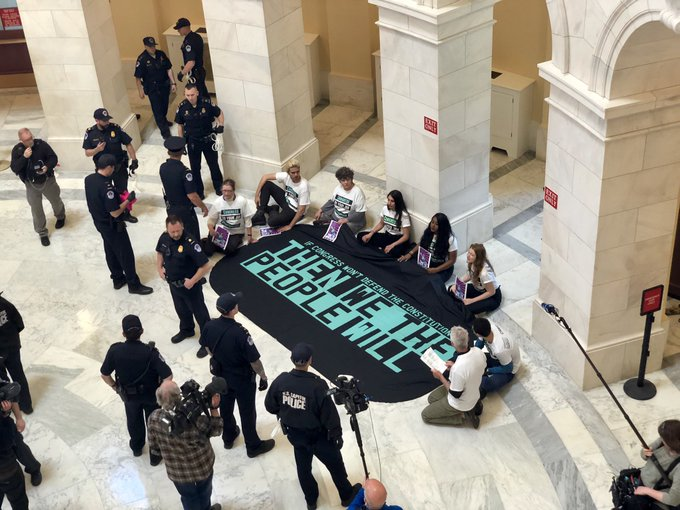 protest in the rotunda