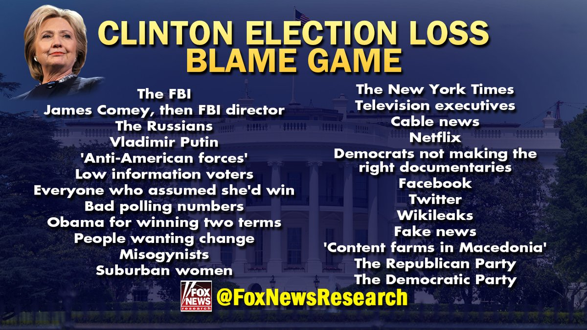 Clintonblame loss