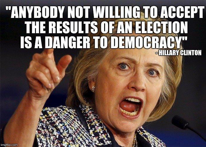 Hillary opposing