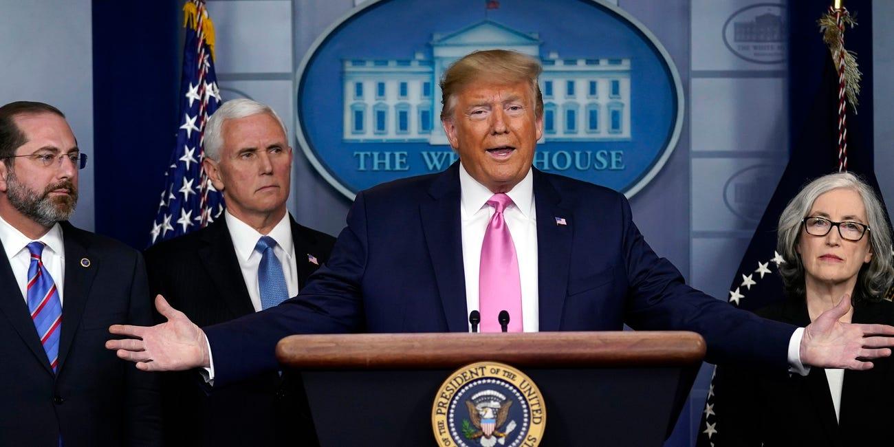 Trump press confermece on virus