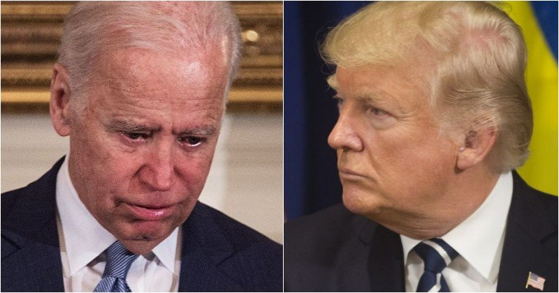 This image has an empty alt attribute; its file name is bidenandtrump.jpg